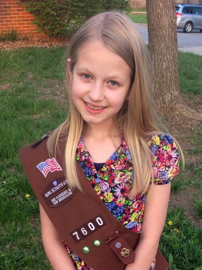 Girl Scout bridging ceremony | Smith Family Weblog